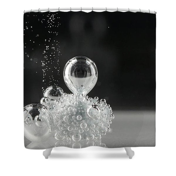 Shower Curtain featuring the photograph Bubbling by Beauty of Science