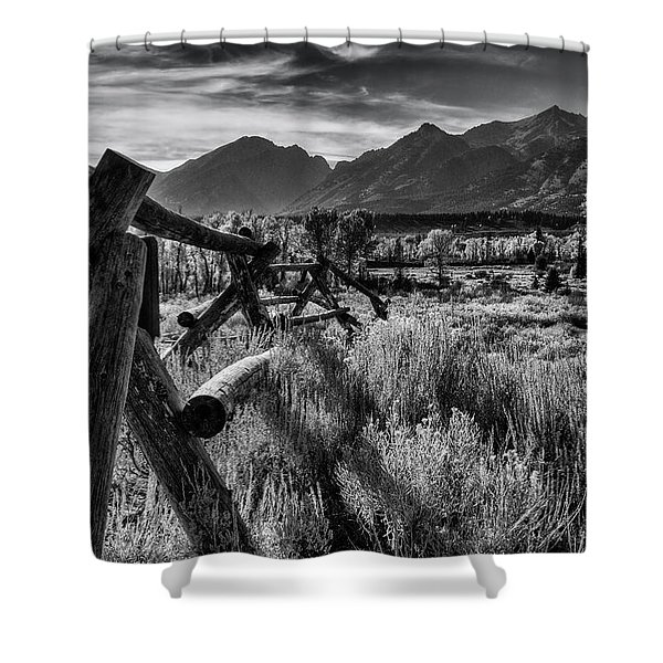 Buck And Rail To The Tetons Shower Curtain