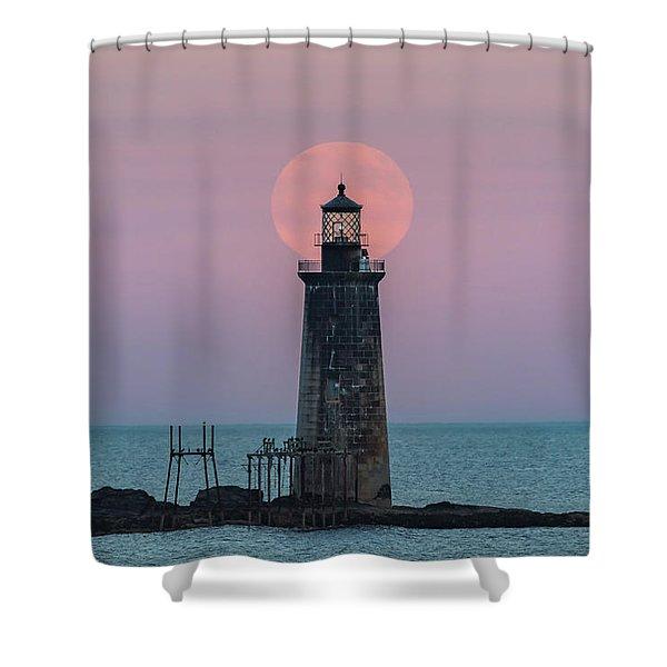 Buck Moon Rising Shower Curtain