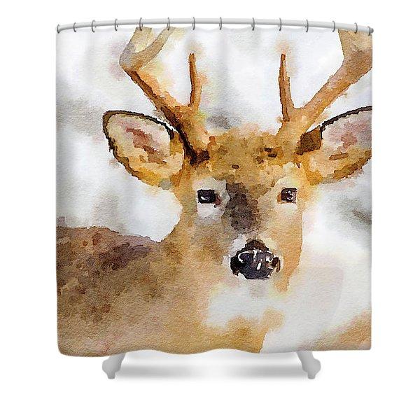 Buck Profile Shower Curtain
