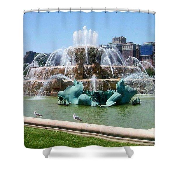 Buckingham Fountain Shower Curtain