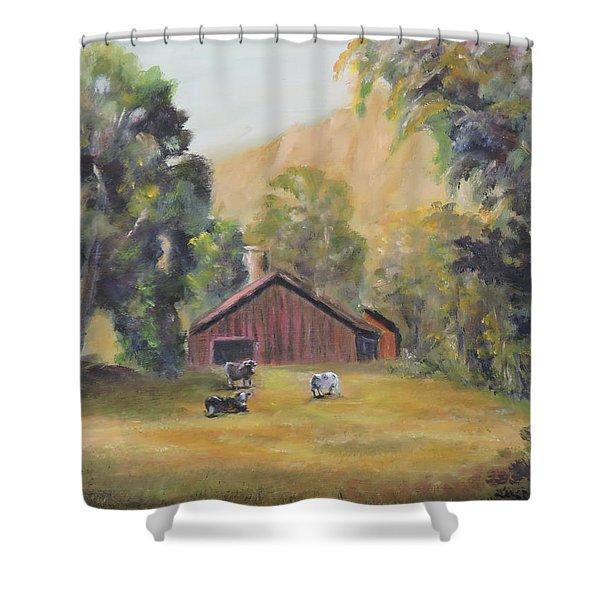 Bucks County Pa Barn Shower Curtain