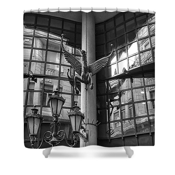 Budapest Reflections Shower Curtain