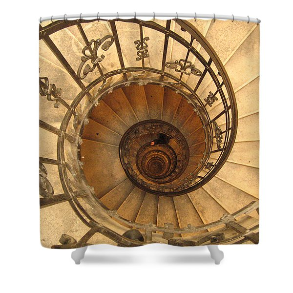 Budapest Staircase Shower Curtain