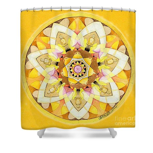 Buddha Sun Mandala Shower Curtain
