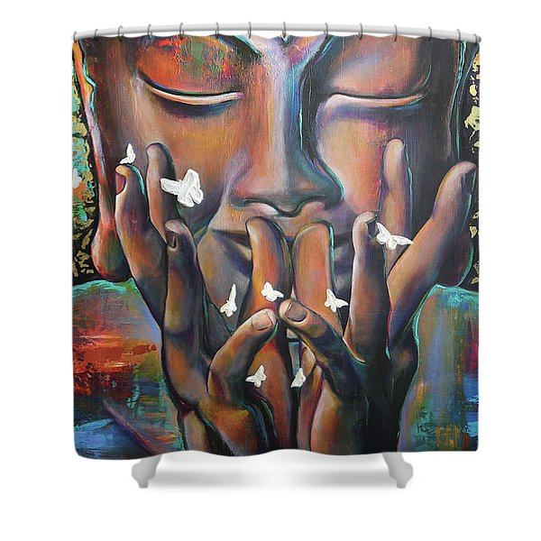 Buddhaflies Shower Curtain