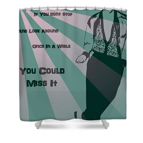 Bueller Shower Curtain