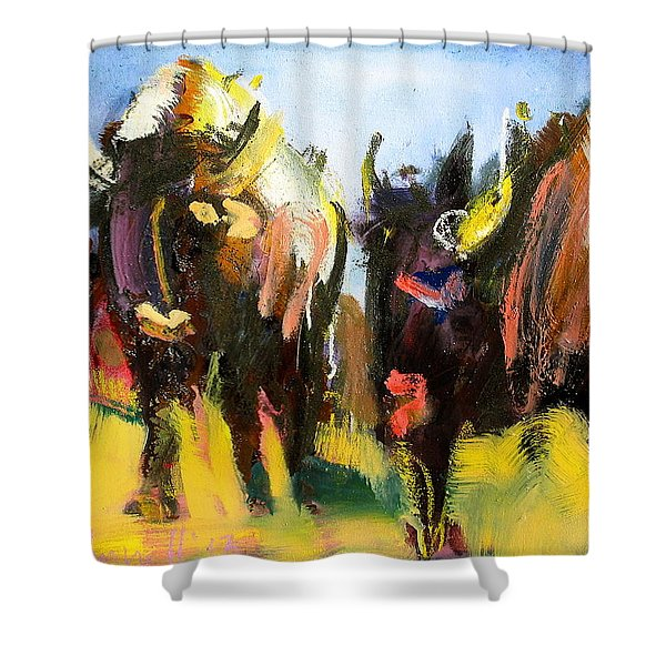 Buffalo Lips Shower Curtain