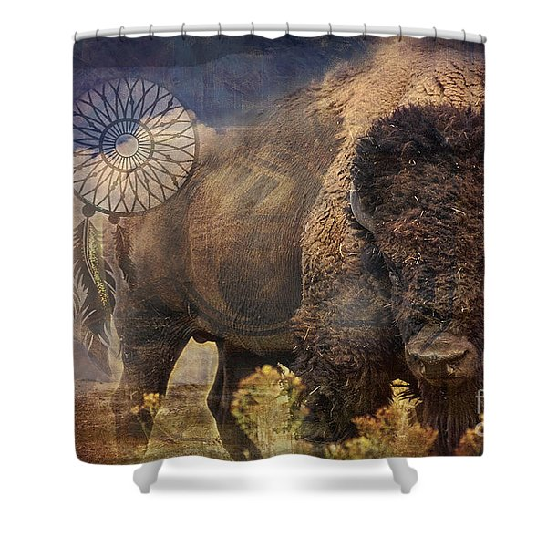 Buffalo Medicine 2015 Shower Curtain