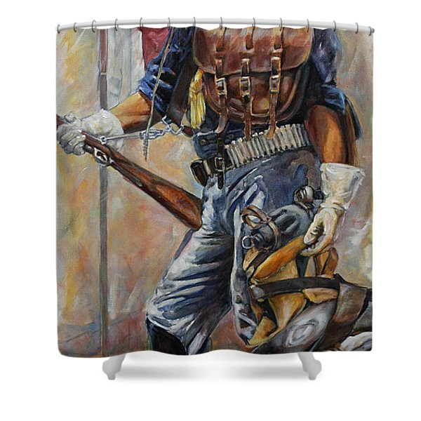 Buffalo Soldier Outfitted Shower Curtain