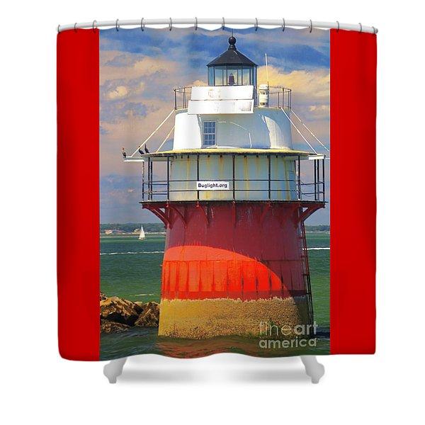 Bug Light Plymouth Shower Curtain