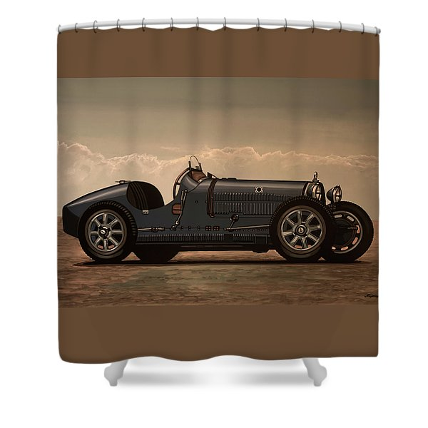 Bugatti Type 35 1924 Mixed Media Shower Curtain