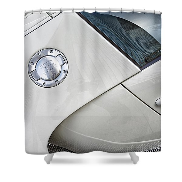 Shower Curtain featuring the photograph Bugatti-veyron, 258 Mph,super Sport 300 by Michael Hope
