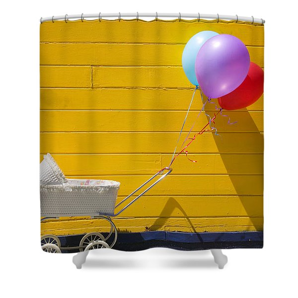 Buggy And Yellow Wall Shower Curtain