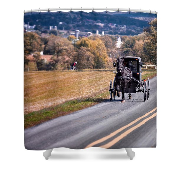 Buggy County Shower Curtain