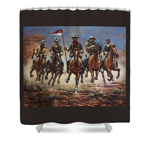 Bugler And The Guidon Shower Curtain