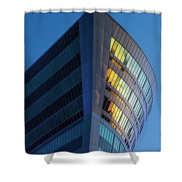 Building Floating In The Sky Shower Curtain