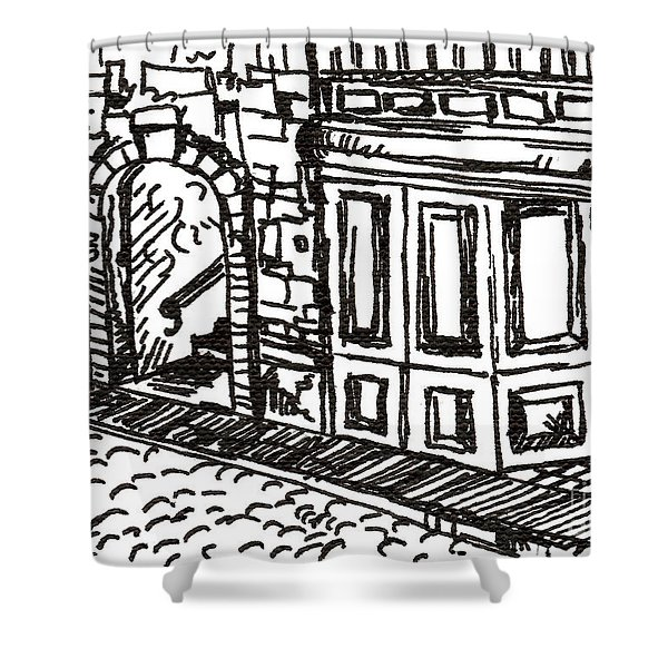 Buildings 2 2015 - Aceo Shower Curtain