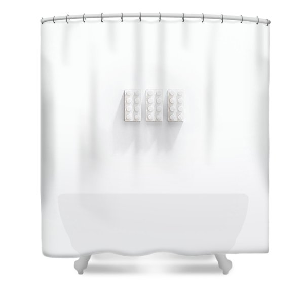 Builidng Blocks Shower Curtain