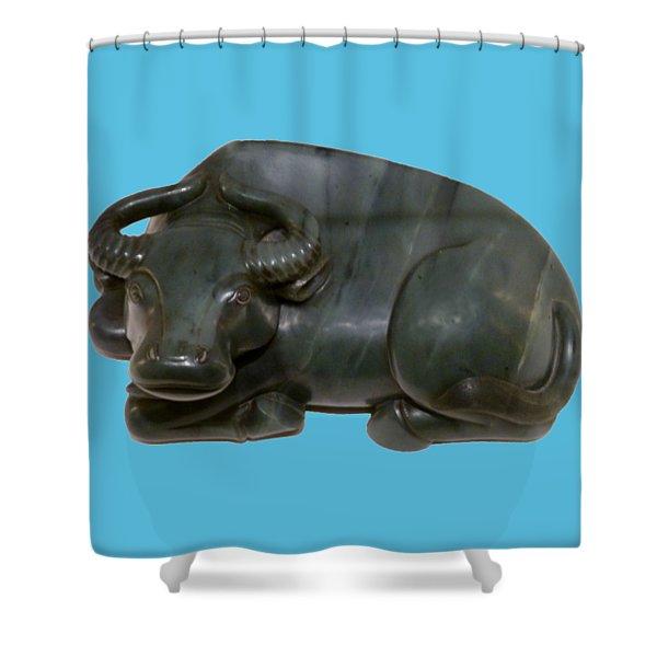 Bull Figure Shower Curtain