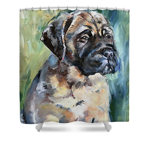Bull Mastiff Shower Curtain