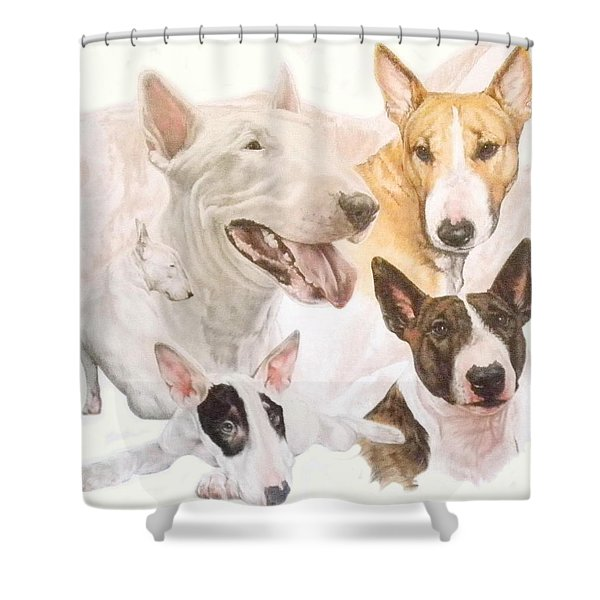 Bull Terrier Medley Shower Curtain