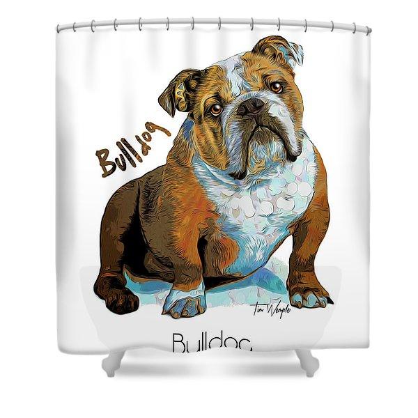 Bulldog Pop Art Shower Curtain