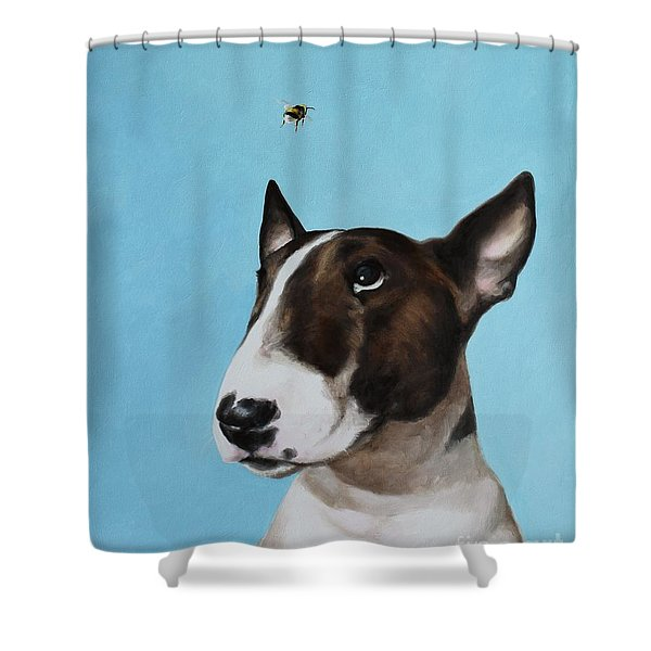 Bully And Bee Shower Curtain