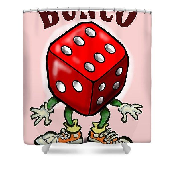 Bunco Shower Curtain