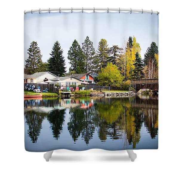 bungalows on the Deschutes Shower Curtain