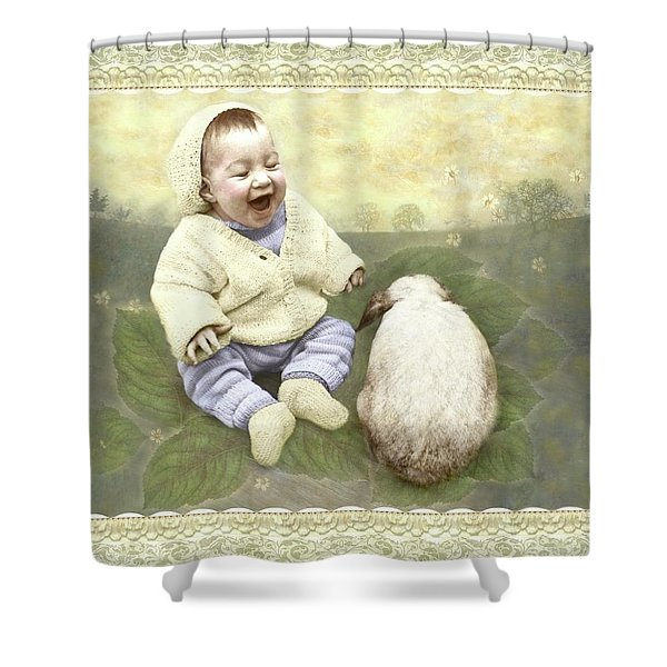 Funny Buddies Shower Curtain
