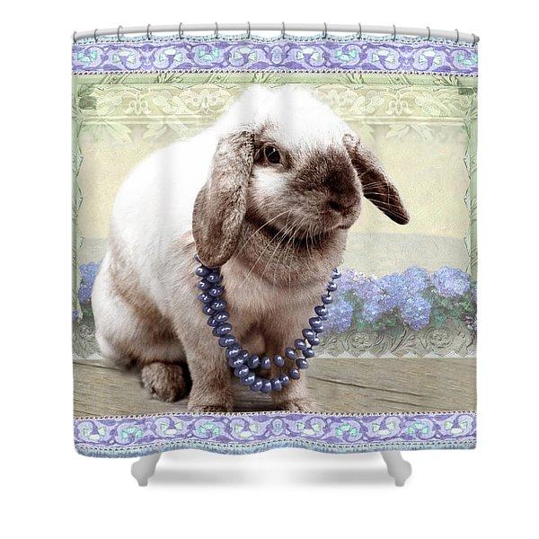Bunny Wears Beads Shower Curtain