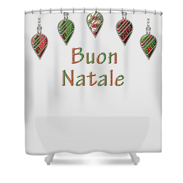 Buon Natale Italian Merry Christmas Shower Curtain