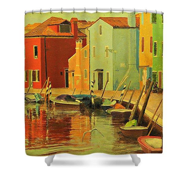 Burano, Italy - Study Shower Curtain