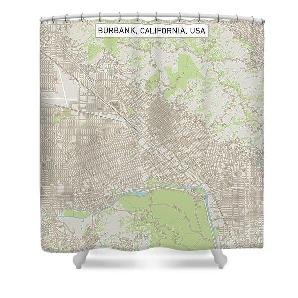 Urban Shower Curtain Downtown Los Angeles USA Print for Bathroom