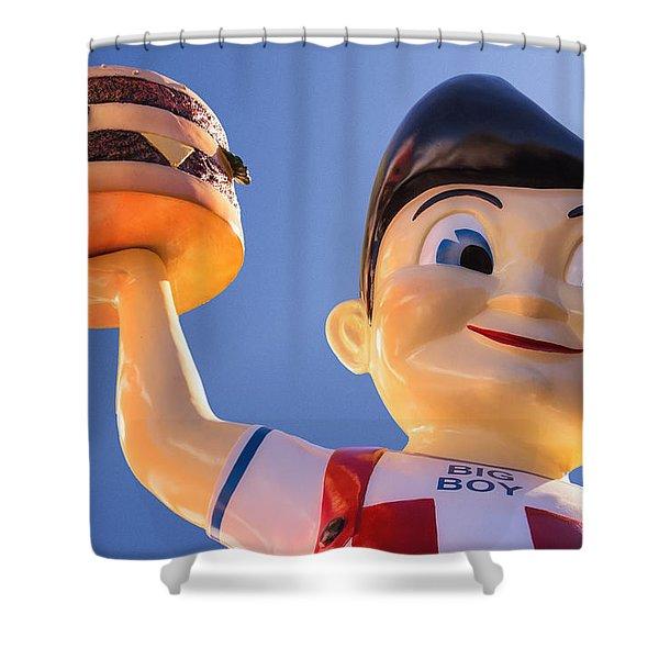 Burger Bob Shower Curtain