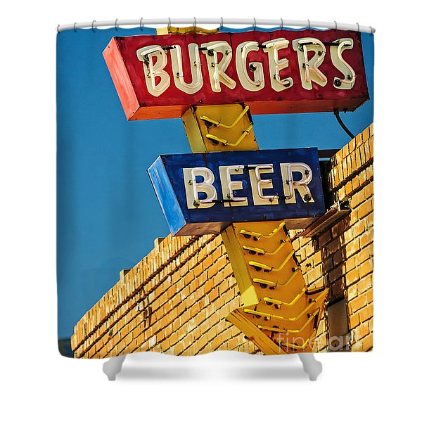 Burgers And Beer Shower Curtain