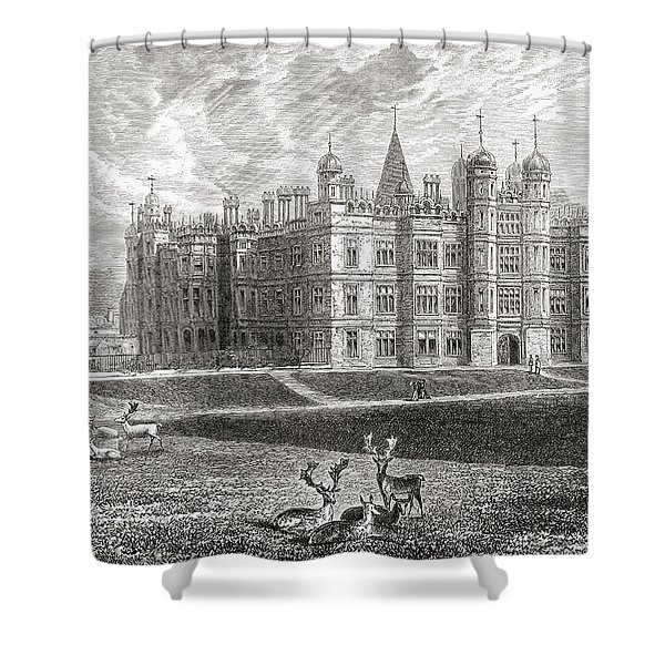 Burghley House, Stamford, England In Shower Curtain