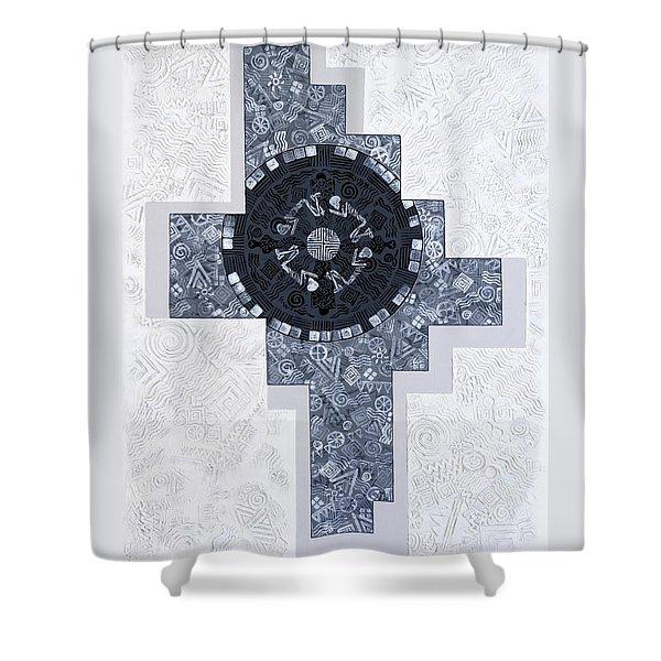 Burial Mound Shower Curtain