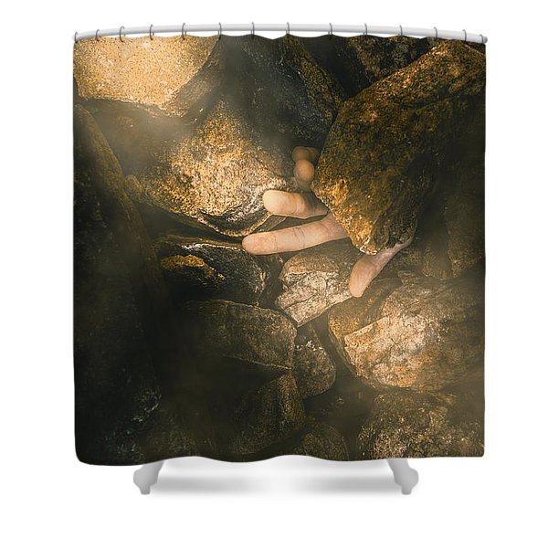 Buried Alive Shower Curtain