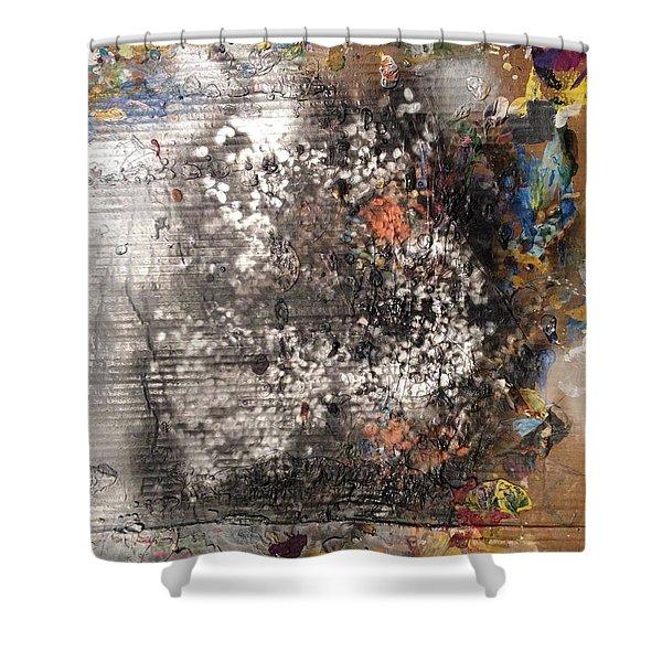 Burn Crackle Fizz Shower Curtain