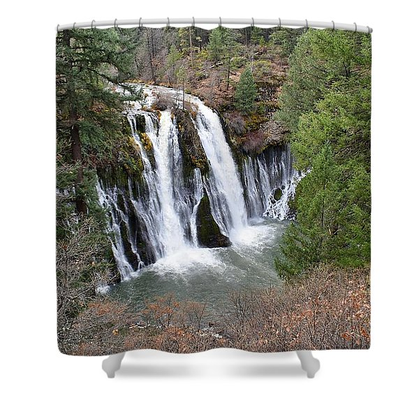 Burney Falls Shower Curtain