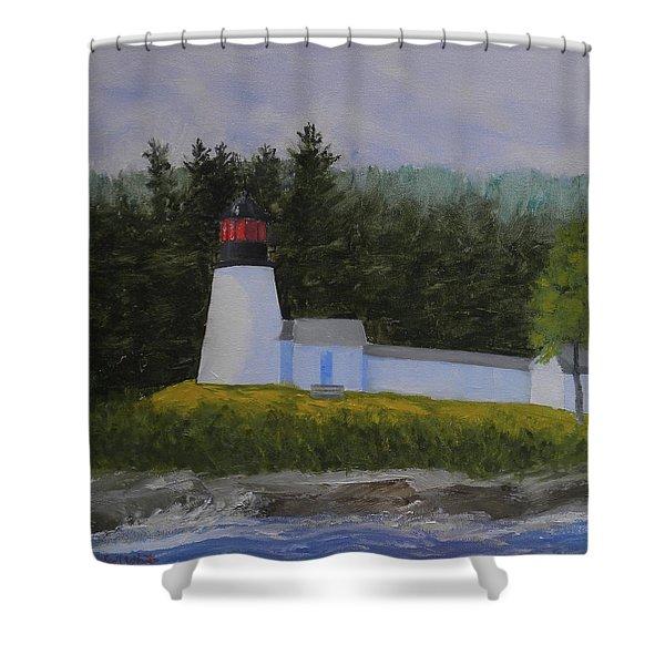 Burnt Island Light Shower Curtain