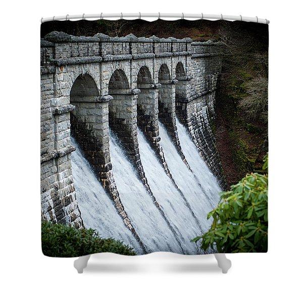 Burrator Reservoir Dam Shower Curtain