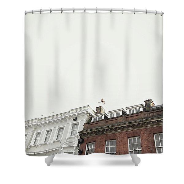 Bury St Edmunds Buildings Shower Curtain