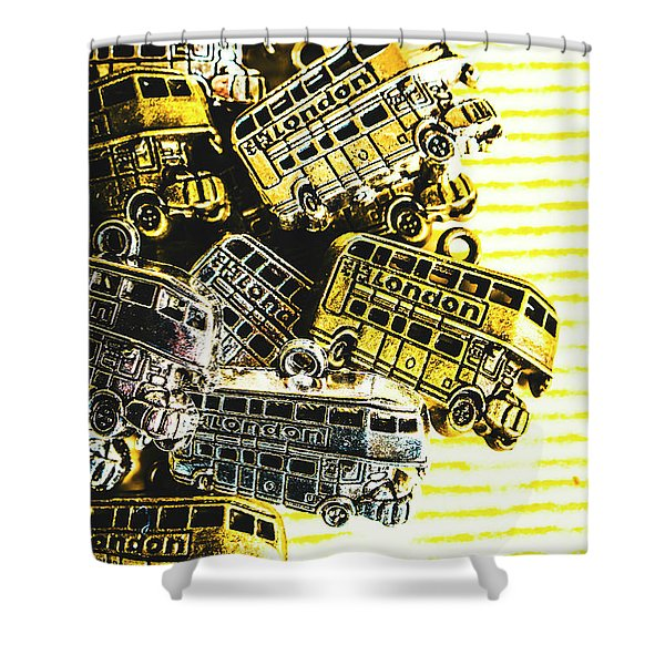 Bus Lines Shower Curtain
