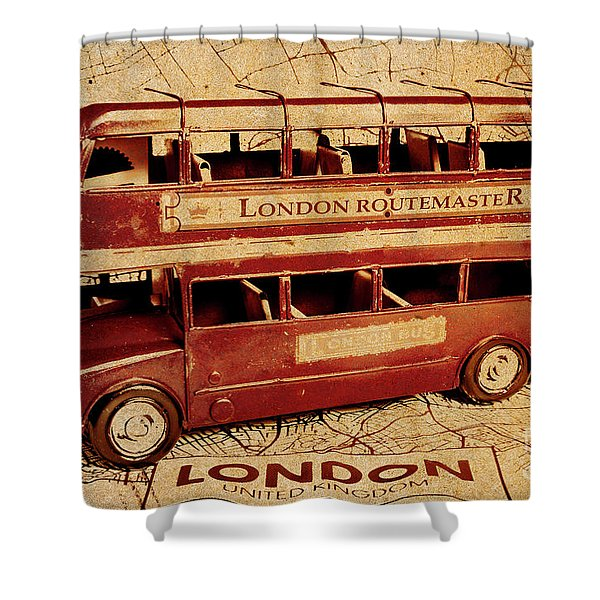 Buses Of Vintage England Shower Curtain