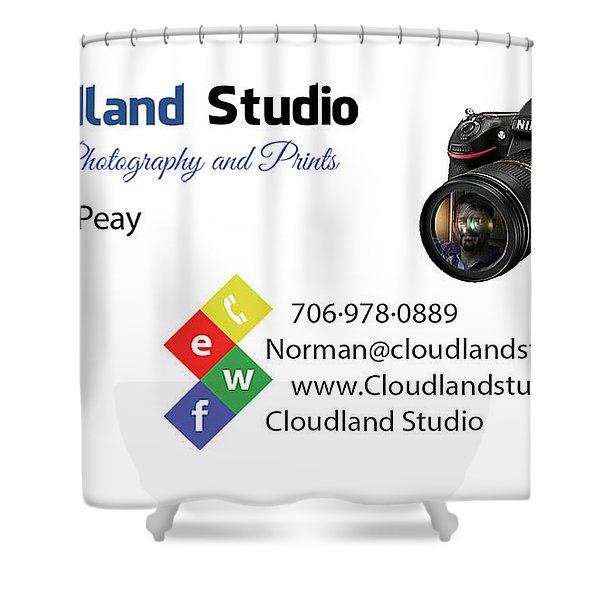 Business Card Shower Curtain