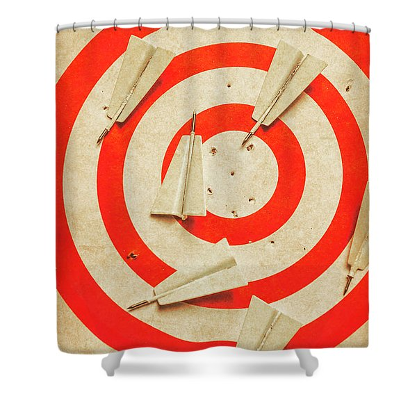 Business Target Practice Shower Curtain