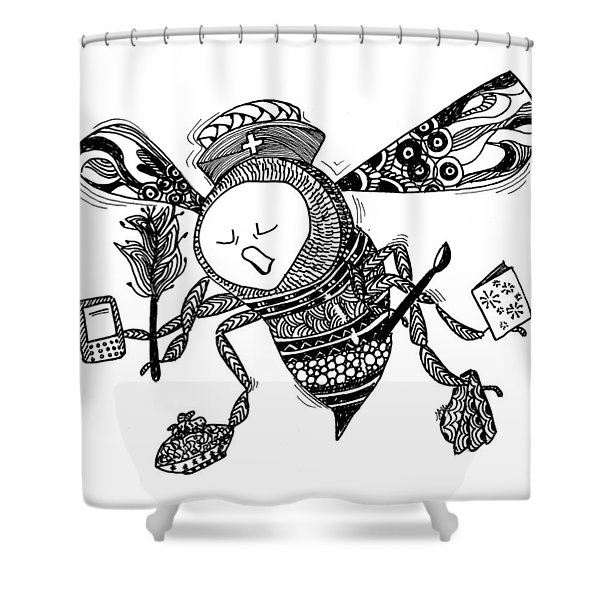 Busy Bee Shower Curtain